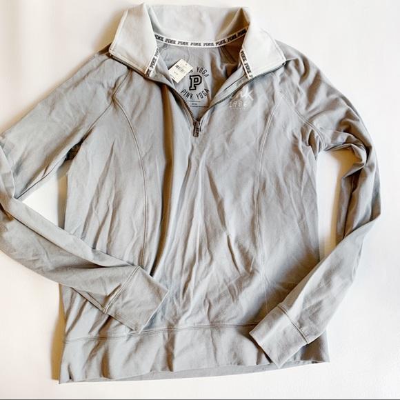 PINK Victoria's Secret Jackets & Blazers - PINK VICTORIAS SECRET Gray Pullover Jacket NWT M